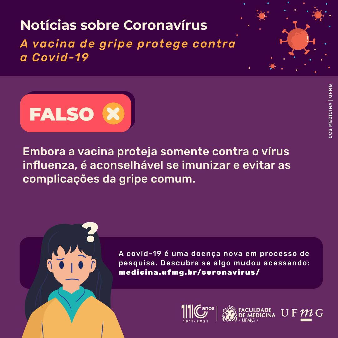 Verdade ou mentira? A vacina de gripe protege contra a Covid-19? -
