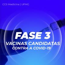 Fase 3 – vacinas em teste