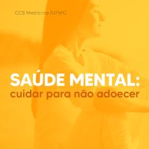 Saúde mental: cuidar para não adoecer